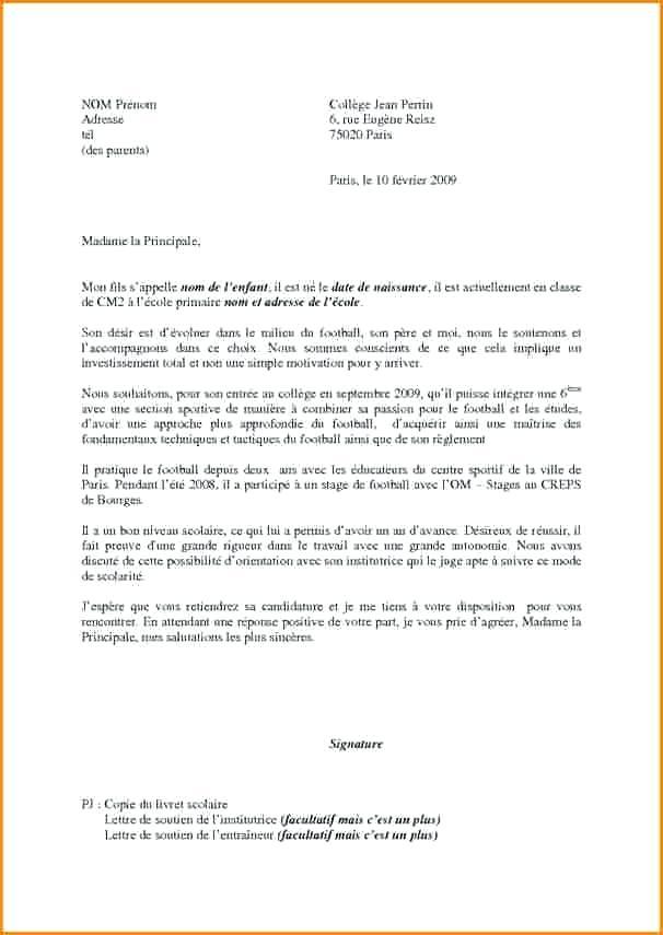 modele lettre inscription ecole maternelle - Modele de ...