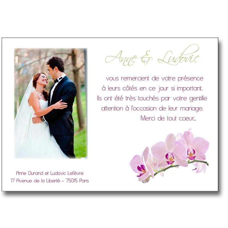 modele lettre remerciement mariage