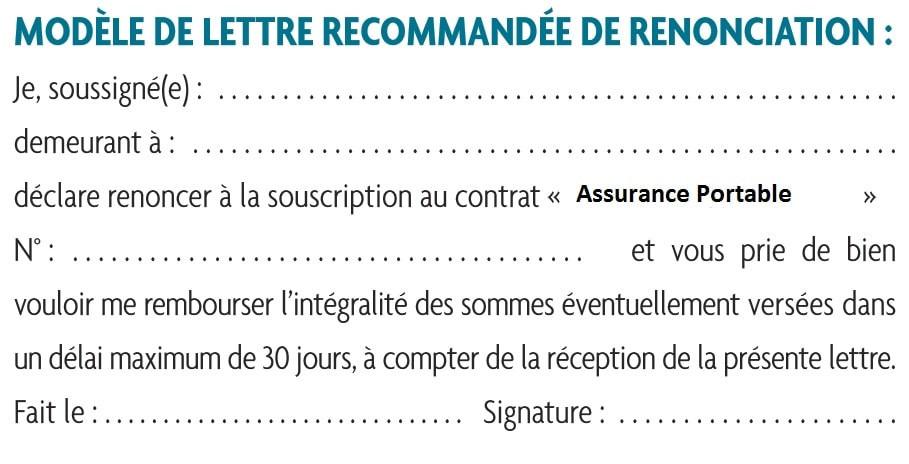 modele lettre resiliation assurance sfr - Modele de lettre type