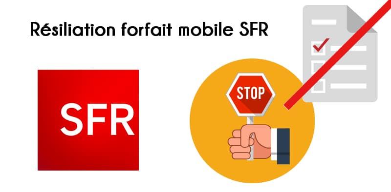 modele lettre resiliation forfait sfr - Modele de lettre type