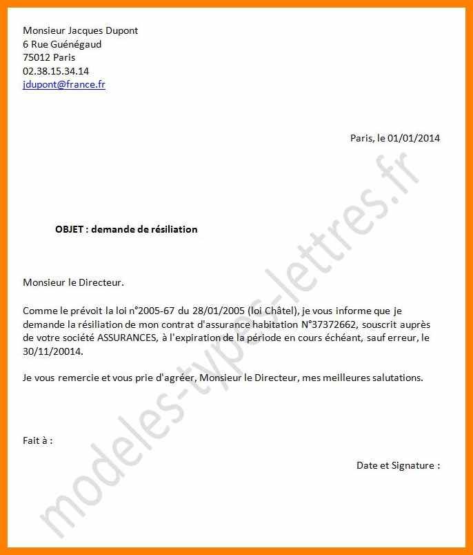 modele lettre resiliation ligne fixe orange