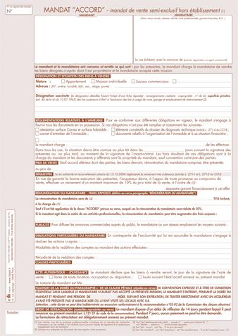 modele mandat de vente - Modele de lettre type