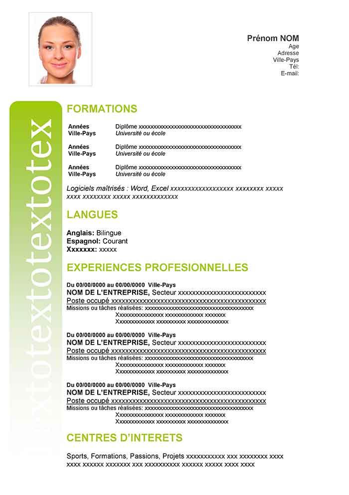 modeles cv pdf