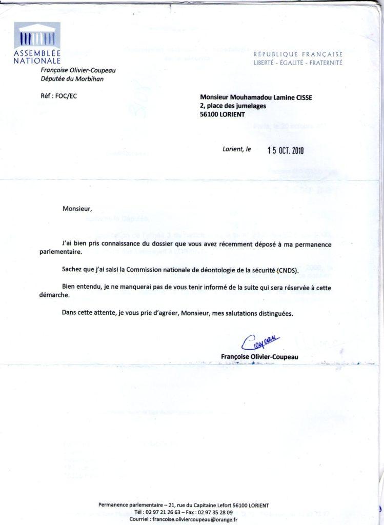 procuration administrative exemple