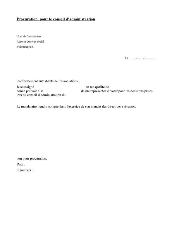 procuration simple modele - Modele de lettre type