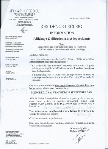 reclamation caution logement