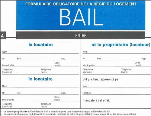 regie du logement formulaire resiliation de bail
