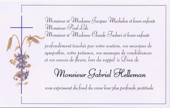 remerciement condoleance gratuit - Modele de lettre type