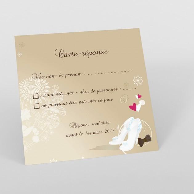 reponse a une invitation de mariage