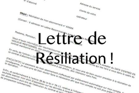 resiliation bouygues telecom loi chatel - Modele de lettre type