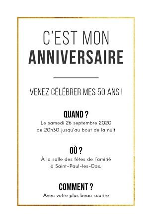 texte invitation anniversaire