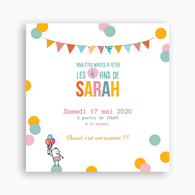 texte pour carton d'invitation anniversaire - Modele de lettre type